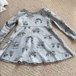 Grey Mickey and Minnie Disney Dress